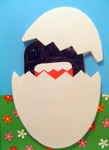 domo-kun egg hatched papercraft